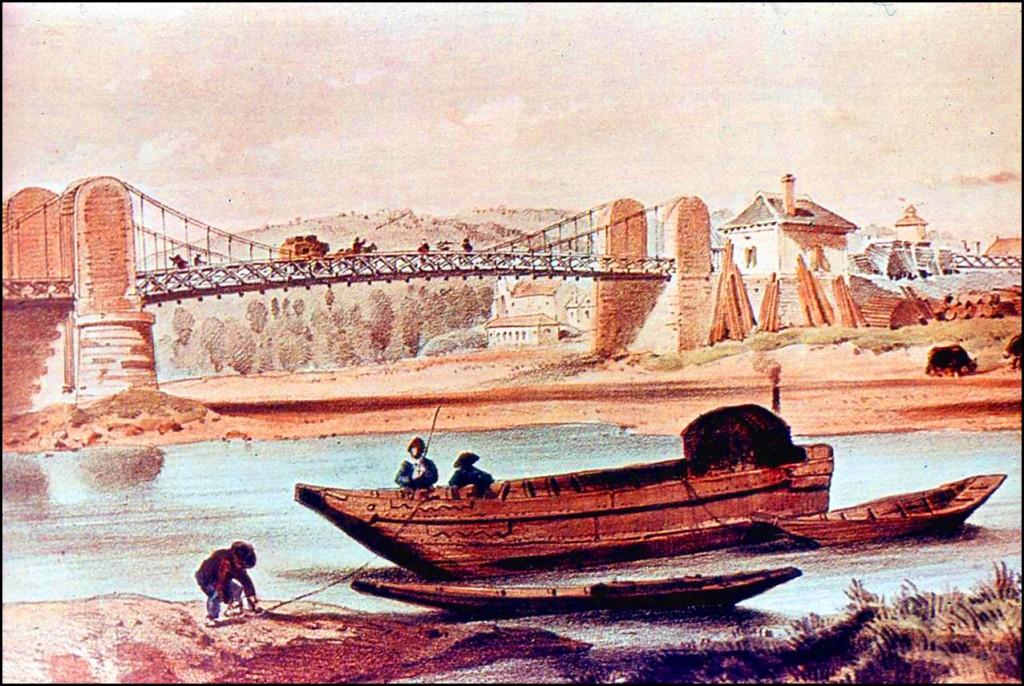 Toue sur l'Allier, Vichy, 1832-35