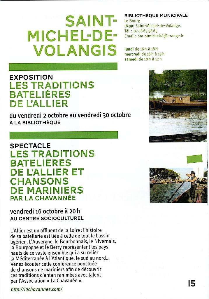 2015.10.16 St Michel-de-Volangis, programme @